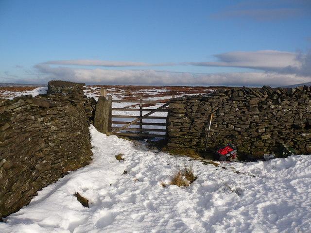 Where three walls meet on Old Cote Moor
