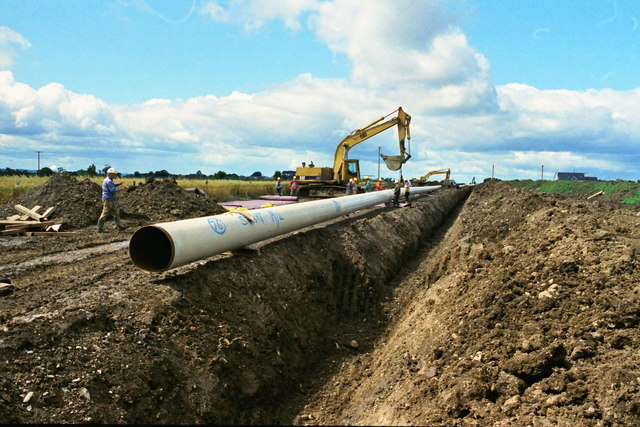 Pipe laying at Raheny, Co. Dublin