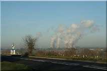 SU5186 : Power Station in the distance by Bill Nicholls