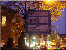 TQ2075 : Pre-Worboys sign East Sheen by David Howard