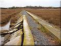 SH5626 : Concrete reinforced path at Mochras by John Lucas
