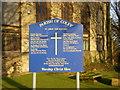 SE1226 : St John the Baptist Church, Coley, Sign by Alexander P Kapp