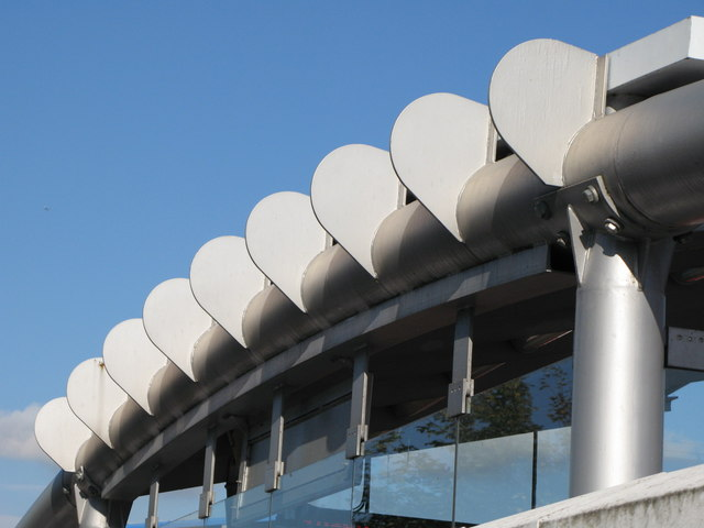 Elverson Road DLR station - roof detail