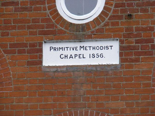 Plaque on the former Methodist Chapel