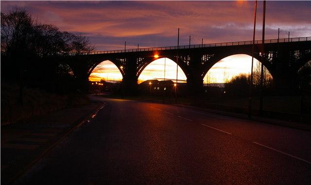 Railway Viaduct near Rosehill, Wallsend