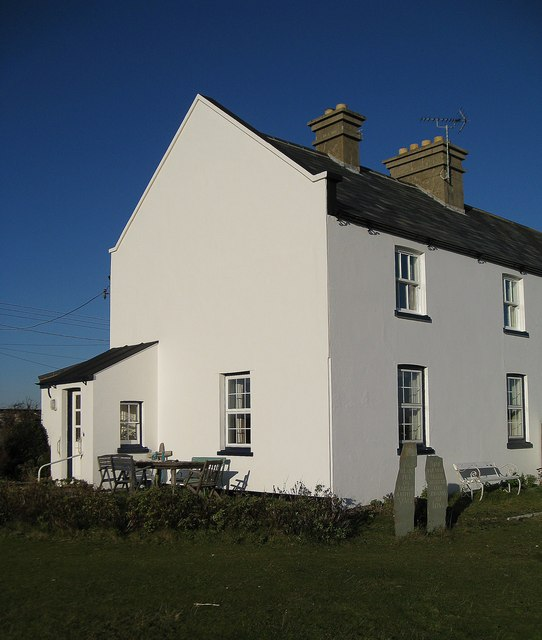 Cottage and Standing Stones