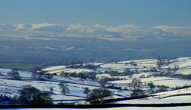 The Far Eastern Fells of The Lake District,under snow