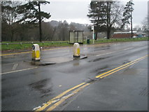 SU9948 : Bus stop by Shalford Park by Basher Eyre