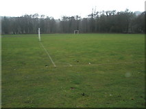 SU9948 : Football pitches within Shalford Park by Basher Eyre