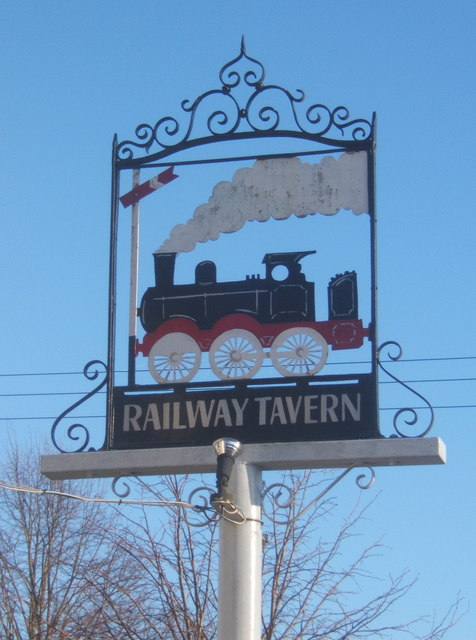 The sign of the Railway Tavern, Mellis