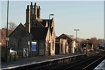 SK8975 : Saxilby station buildings by roger geach