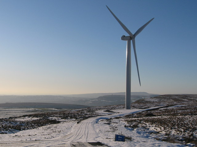 Scout Moor Wind Farm Turbine Tower No 12