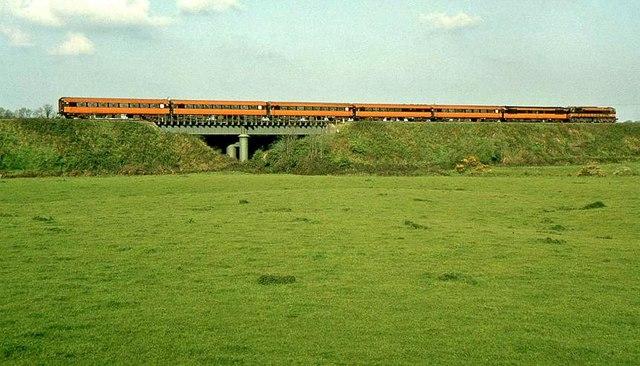 The White River railway bridge near Dunleer