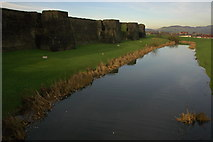 ST1587 : The North Dam, Caerphilly Castle by Philip Halling
