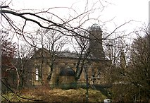 SE1338 : Saltaire United Reformed Church - viewed from Albert Terrace by Betty Longbottom