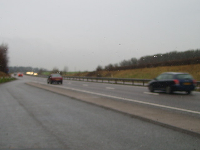 A42 on a grim day in December.