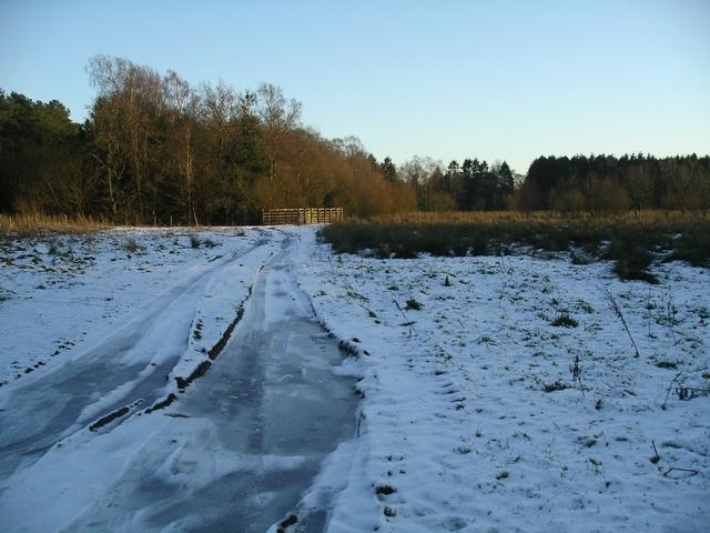 Frozen track near Castle Loch