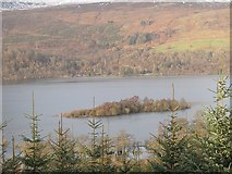 NN5833 : Island in Loch Tay by Richard Webb