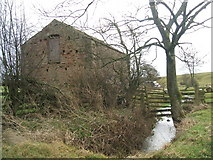 NY7513 : Barn and Blind Beck, Little Musgrave by David Brown