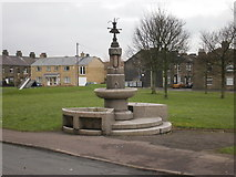 SE0824 : Fountain with troughs on Spring Edge South by Alexander P Kapp