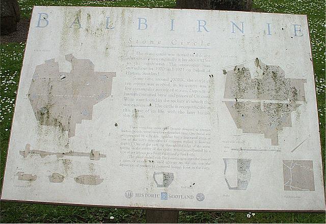 Balbirnie Stone Circle Notice Board