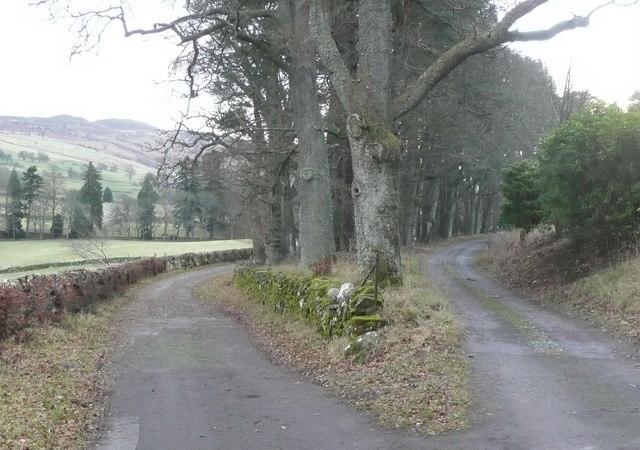 Roads from Tulliemet House