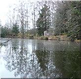 NN9952 : Pond at Tulliemet Lodge by Russel Wills