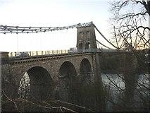 SH5571 : Pont y Borth at nighfall by Eric Jones