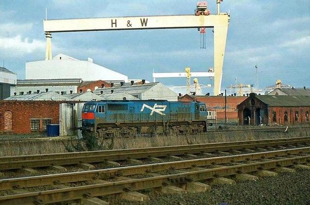 Locomotive and cranes, Belfast