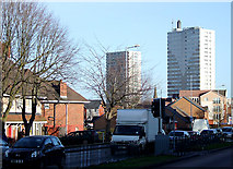 SO9299 : Wednesfield Road, Heath Town, Wolverhampton by Roger  Kidd