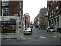 TQ2880 : Looking from South Audley Street westwards along Reeves Mews by Basher Eyre