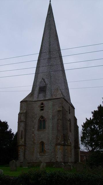 The spire Westbury on Severn