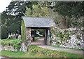 SX8260 : Lychgate at Berry Pomeroy by Paul Hutchinson