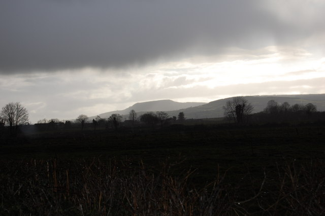 The Devils Bit viewed from the road to Graffin.