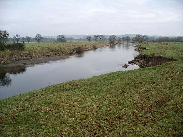 River Annan at Halleaths, Christmas Day 2008