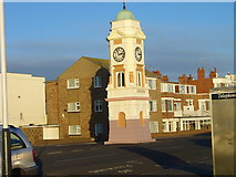 TQ7306 : Clock Tower, West Parade, Bexhill by Shazz