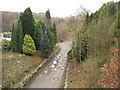SH5062 : A section of the former L&NW railway track from the overhead bridge at Seiont Nurseries by Eric Jones