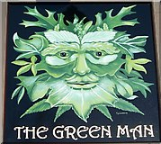 ST7210 : Sign for the Green Man, King's Stag by Maigheach-gheal