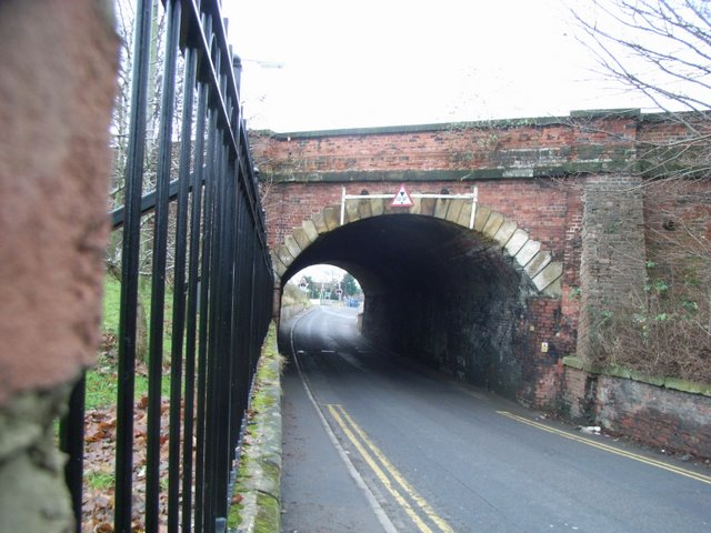 Bridge carrying the East Coast Main Railway line over Romanby Road