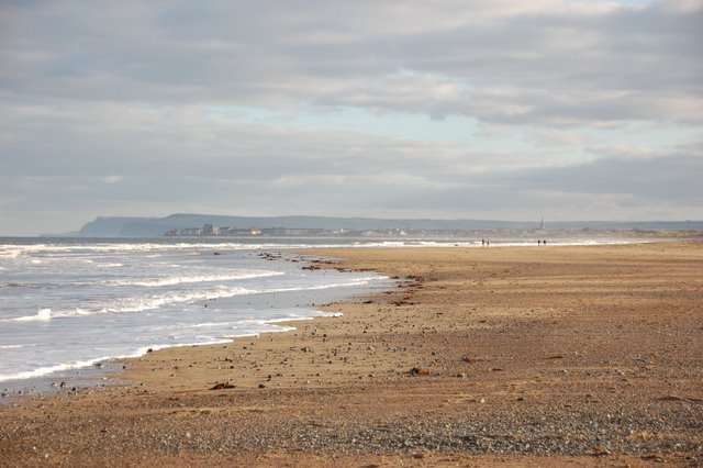 Coatham Sands at mid tide