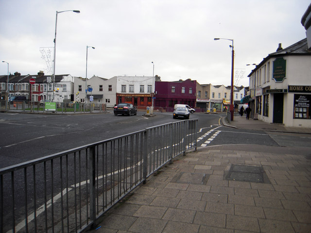 Junction of Thornton Heath High and Whitehorse Road, and Whitehorse Lane