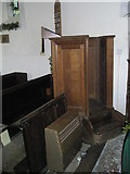 SU8014 : The pulpit within St Peter, East Marden by Basher Eyre