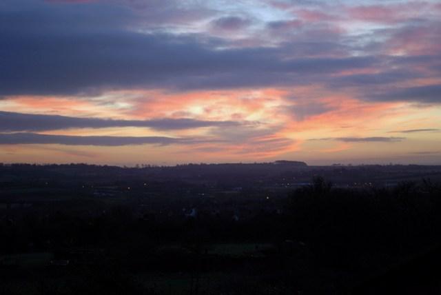 Sunrise across the Erewash Valley