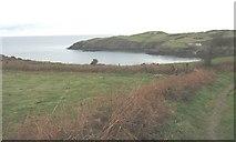 SH4094 : View across Porth Wen cove to Trwynbychan point by Eric Jones