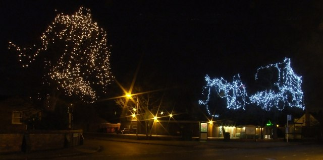 Christmas lights in Burton Joyce