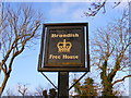 TM2570 : The Crown Public House sign by Adrian Cable
