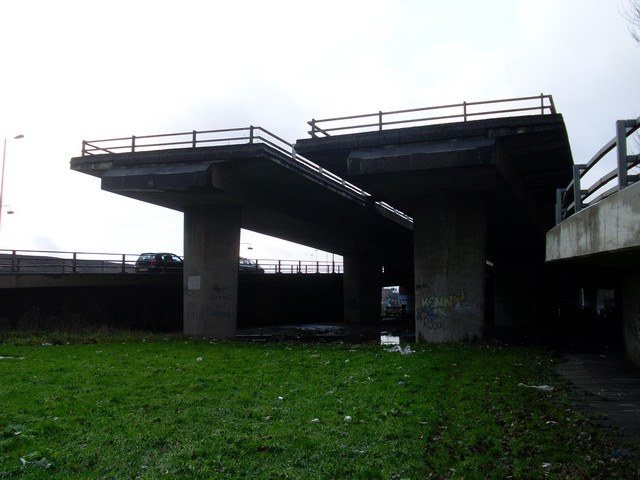 """The """"Ski Jump"""" or the """"Road to Nowhere"""", Glasgow"""