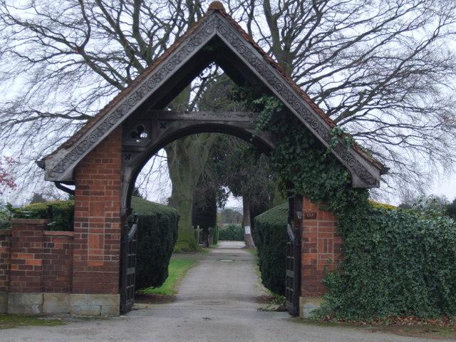 The gate to St. Helen's churchyard