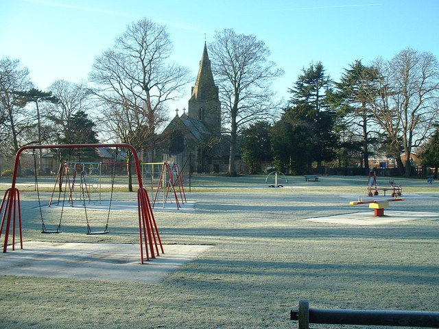 The Roberts Recreation Ground in the frost