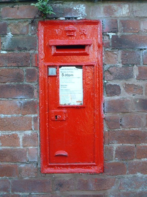 A Victorian post box